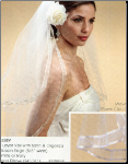 2 Layer veil with Ribbon Edge