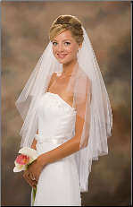 Two-tiered circular veil