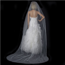 Bridal Wedding Single Layer Cathedral Length