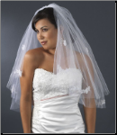 Bridal Wedding Double Layer Elbow Length