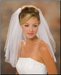 "20"" Long Corded Edge Bridal Veil"