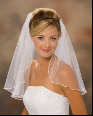 "20"" Long, Pearl Edge bridal Veil"