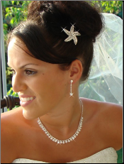 Beach Starfish Hair Crystal Accent 3177 Brooch Pin