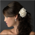 Triple Flower Bridal Hair Clip in White or Ivory