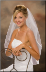 "30"" Long Cut Edge Bridal Veil"
