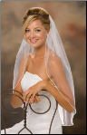Pearl Edge Veil with Scattered Pearls