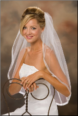 "5/8"" Sheer Ribbon Edge Veil"