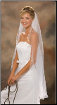 "1/8"" Ribbon Edge Veil knee length"