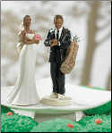 Exasperated Bride Figurine And golf frantic Groom