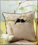 Love Bird Ring Pillow NEW
