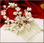 Freshwater Pearl & Crystal Hair Comb