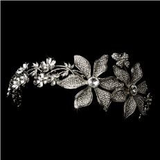 Headpiece 9944 Antique Silver Clear