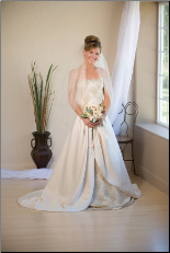 Beige Wedding Veil