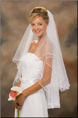 "30""x36"" 1/8"" Ribbon Edge Veil"