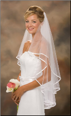 "30""x36"" 3/8"" Ribbon Edge Veil"