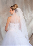 Antique Gold corded edge Bridal Veil