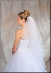 Light Blue corded edge Bridal Veil
