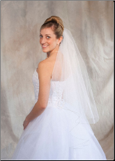 Sage corded edge Bridal Veil
