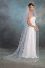 "30""x90"" Corded Edge Bridal Veil"