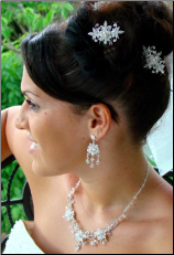 Elegant Crystal Floral Bridal Hair Pin 1583