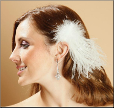 Feather Spray hair accessory