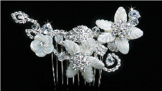 Silver/ Clear Hair Comb Accessory
