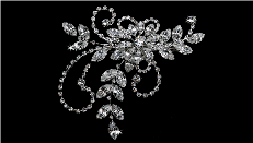 Silver Rhinestone Diamond Hair Comb