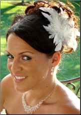 Floral Hair Fascinator with Crystals