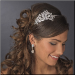 Antique Silver Side Tiara Headpiece 395