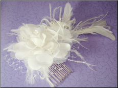 Feather Fascinator with Russian Veiling Accent