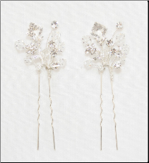 Bridal Hair pins in silver
