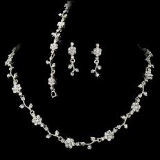 Crystal Floral Vine 3 Piece Bridal Jewelry Set