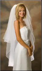 Knee Length Standard Corded Edge Bridal Veil