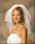 "1/8"" Ribbon Edge Bridal Veil"