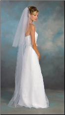 Standard Cut Edge Bridal Veil