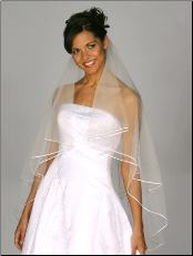 Circle cut Cording (Rattail) Edge Wedding Veil