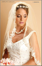 1 Layer Mantilla elbow veil