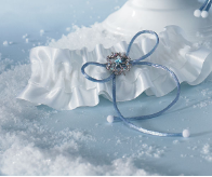 Winter Wonder Bridal Garter