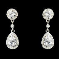 Cubic Zirconia Bridal Earrings