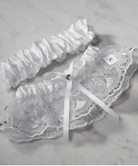 Beverly Clark Royal Lace Collection Wedding Garter Set