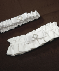 Pure Elegance in Wedding White Two Piece Bridal Garter Set