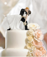 A Romantic Dip Dancing Couple Romantic Wedding Cake Topper