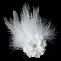Petite Flower Feather Fascinator Bridal Wedding Day Hair Clip