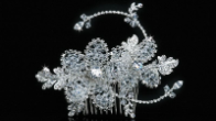 Silver Clear Beaded Hair Comb