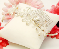 Elegant Crystal Couture Bridal Side Comb