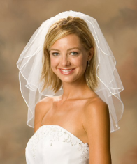 Rattail Edge Bridal Shoulder Veil