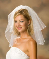 Soutache Edge Bridal Veil