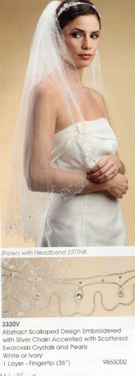 Abstract Scalloped Design Veil