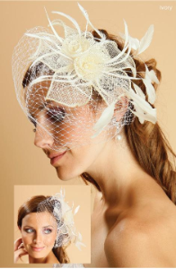 Sinamay Rose Headpiece and Veil