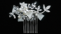 Silver Clear or Ivory Bridal Hair Comb